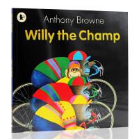 【满300-100】进口英文原版Willy the Champ 威利成了 安东尼・布朗 Anthony Browne 儿