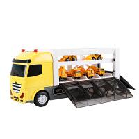 �和�玩具消防工程�套�b合金小汽�仿真大���模型