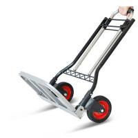 家用手拉车折叠便携行李车小拖车折叠拉货车推车购物小拉车拉杆车