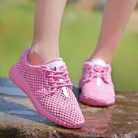 2019新款夏季镂空大码女鞋40单层网鞋41休闲鞋42透气运动鞋43白色