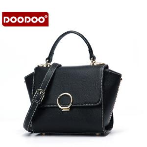 【支持礼品卡】DOODOO 小包包2018新款斜挎包韩版时尚百搭女士手提单肩翅膀包女包 D6159