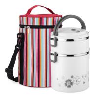 家用便携手提不锈钢保温饭盒3层大容量 学生便当盒防漏保温桶