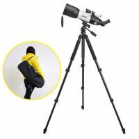 买一送三博冠天鹰80/400便携式入门天文望远镜 儿童入门天文望远镜 观天观景天地两用