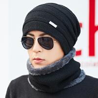 冬天男士帽子潮保暖针织毛线帽冬季户外骑行帽子围脖一体
