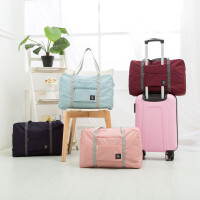 旅行袋 手提女便携折叠收纳包 大容量行李袋 健身包男可套拉杆行李箱