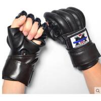 加长腕带透气舒适格斗男女训练加厚搏击手套成人拳击手套半指手套