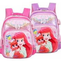 迪士尼白雪公主女童书包 0374小学生双肩包 小女生休闲卡通背包