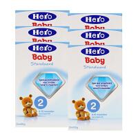 荷兰美素(Hero Baby)婴幼儿奶粉2段(6-10个月宝宝)800g一盒装 六盒装