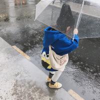 №【2019新款】冬天儿童穿的洋气女宝宝冬装卫衣女童秋小童带帽儿童上衣