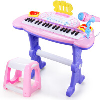 儿童多功能音乐电子琴男孩女孩钢琴带麦克风椅子宝宝益智启蒙玩具