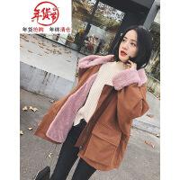 冬季外套女韩版加厚宽松大毛领ins女短款工装棉衣chic棉袄潮