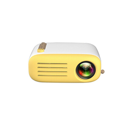 新款家用微型投影仪LED便携手持投影机支持高清1080P默认发黑黄色 需要黑白色请备注