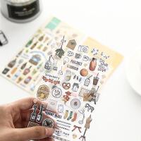 韩国创意贴纸文具 可爱士兵日记本装饰贴纸组 简约现代风手账贴