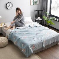 秋冬毛毯婴儿童单人毯子办公室午睡空调毯毛巾被膝盖毯透气