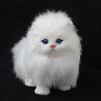 仿真动物模型小猫咪儿童动物玩具会叫的猫玩偶仿真猫咪