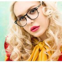 潮流透明框平光镜  复古金属半框眼镜框架女款 男士眼镜光学配近视    支持礼品卡