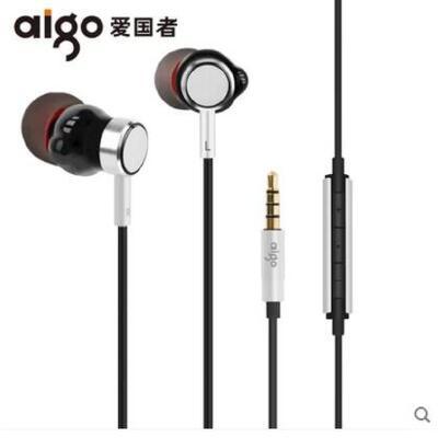 【支持礼品卡】Aigo/爱国者 A690圈铁HIFI耳机入耳式重低音线控带麦苹果手机通用 正品行货