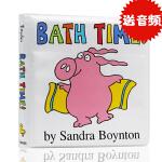 英文原版绘本Bath Time沐浴时间 儿童洗澡玩具布书 Sandra Boynton 亲子互动