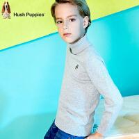 【3折价:79.5元】暇步士童装男童针织衫新品冬装中大童套头儿童线衣高领毛衣