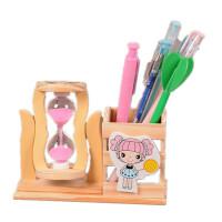 桌面装饰摆件 工艺品 小熊/沙漏造型笔筒 朋友生日礼物 一个价格 款式颜色随机