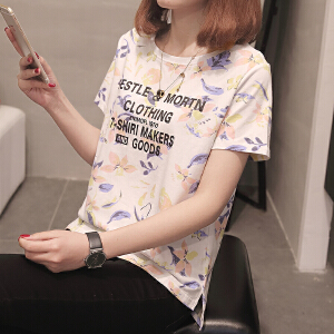夏季t恤女短袖宽松韩版学生百搭ulzzang上衣夏装新款女