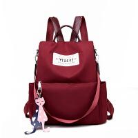 双肩包女韩版潮书包百搭时尚牛津布帆布旅行包包女士背包