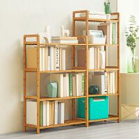 淘之良品简易书架置物简约现代实木多层落地儿童书架学生书柜桌面上