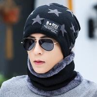 帽子男士冬季针织帽冬天青年套头护耳帽加绒棉帽