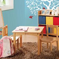 【当当自营】好事达 儿童桌椅套装 实木靠背椅 一桌两椅 乐番1032+1033