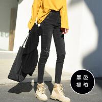 高腰黑色牛仔裤女2018春秋新款韩版紧身显瘦港味chic九分小脚裤子