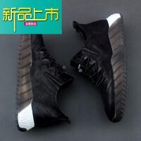 新品上市头层牛皮男鞋潮鞋运动鞋休闲鞋真皮低帮跑步鞋真皮鞋男士百搭板鞋