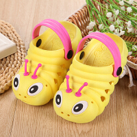 2018夏季新款儿童凉拖鞋毛毛虫男女童防滑儿童花园洞洞鞋沙滩凉鞋