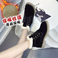 雪地靴女2019冬季新款加绒保暖短靴韩版百搭学生毛口马丁靴棉鞋子
