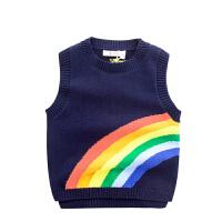童装儿童针织衫马甲男宝宝套头毛衣男童春装无袖毛线背心