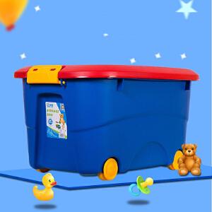 儿童收纳 婴儿宝宝儿童学生加厚塑料玩具筐衣服储物箱宝宝卡通加厚储物箱子收纳盒收纳箱收纳凳 创意家
