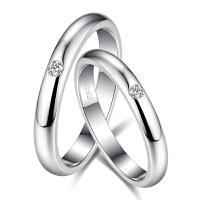 男求婚戒指情侣对戒一对指环单钻仿真钻戒女简约刻字