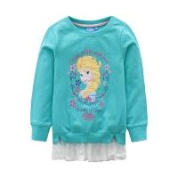 迪士尼女童装可爱动漫人物印花圆领套头卫衣KFZ6F1KTKG7404