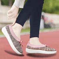 老北京布鞋女妈妈鞋奶奶轻便运动布鞋套脚中老年人耐穿健步平底鞋