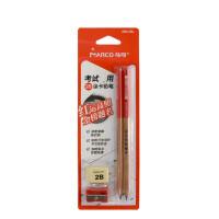 马可考试涂卡铅笔 666中三角2B铅笔 铅笔+橡皮+卷笔刀套装 单卡装