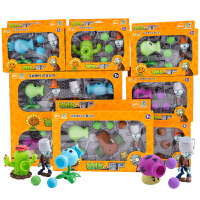 儿童植物大战僵尸玩具全套男孩可发射疆6尸套装豌豆射手公仔