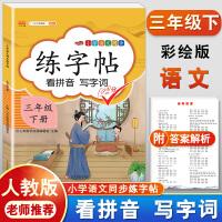 练字帖三年级下册 人教版小学生语文看拼音写词语字帖