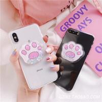 可�圬�爪流�右后w�O果Xs Max/XR手�C��iPhone7plus/8/6透明��づ� I6/6S 液�w解�贺�爪