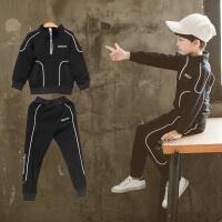 男童秋装儿童帅气两件男孩春秋季运动套装中大童潮衣