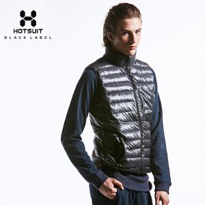 美国HOTSUIT男士冬季保暖运动羽绒防风马甲开衫立领休闲运动外套5648789