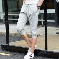 夏季超薄篮球七分裤透气 男士七分裤棉运动短裤 男士修身7分裤男跑步裤
