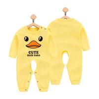 婴儿连体衣服新生儿女宝宝春装1岁男0春秋夏季3个月12初生儿6纯棉