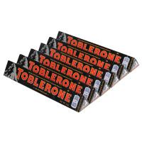 瑞士三角 进口黑巧克力 Toblerone瑞士三角 瑞士进口巧克力含蜂蜜及巴旦木糖50*6g