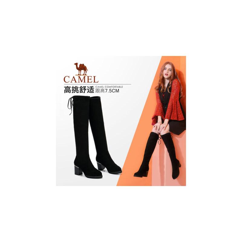 camel/骆驼女鞋 秋冬季新款性感百搭显瘦长筒高跟长靴高筒女靴过膝靴