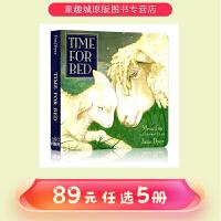 【89选5】#吴敏兰书单 英文原版绘本 0 3岁 Time for Bed 睡前故事 启蒙纸板书 Mem Fox 梅福克
