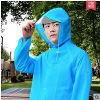 简约韩版加厚雨衣户外成人男女帽檐背负式雨衣登山防水雨披 可礼品卡支付
